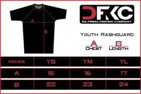 Size chart rashguard youth