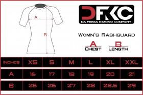 Size chart womens rashguard
